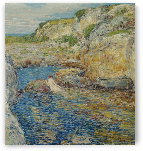 Rockweed Pool by Frederick Childe Hassam