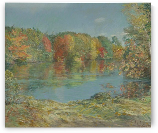 Walden Pond by Frederick Childe Hassam