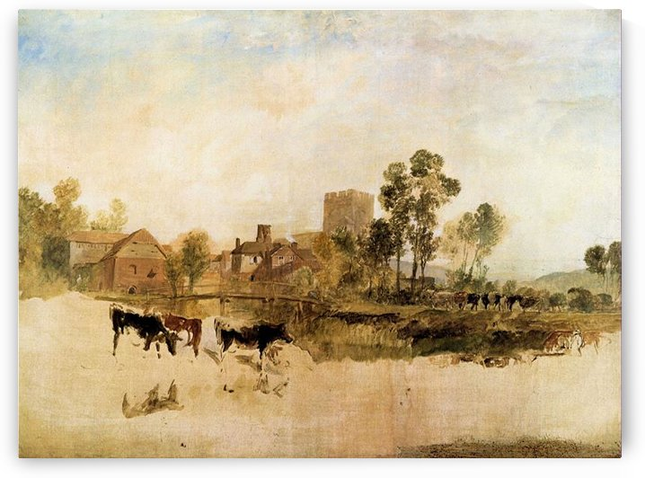 Goring Mill and church by Joseph Mallord Turner by Joseph Mallord Turner