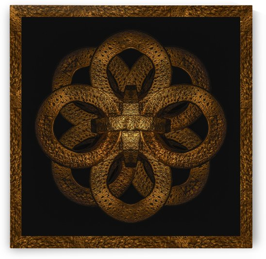 Golden Iron Ornate Mystical Symbol Artwork by Daniel Ferreia Leites Ciccarino