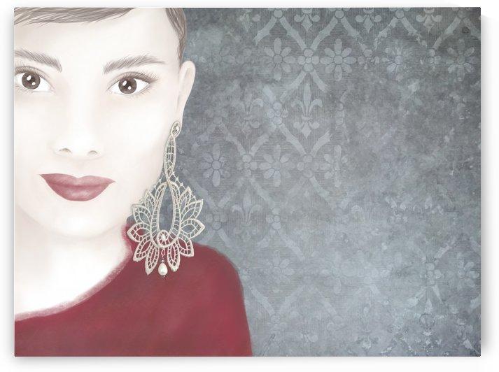 Lace earrings  by Kirsi Korhonen