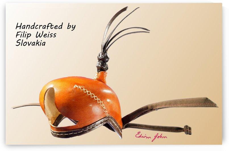 Tanned Leather Falcon hood Handmade in Slovakia by Filip Weiss by Edwin John