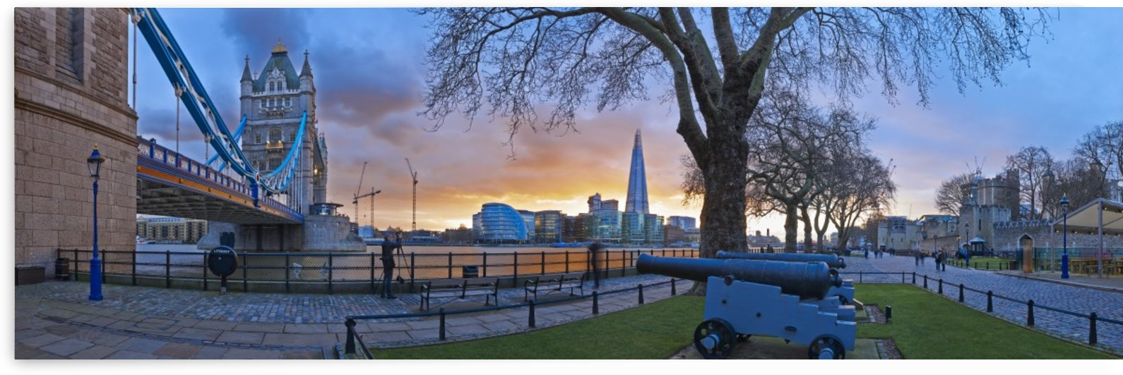 The Shard from Tower Bridge by Adrian Brockwell