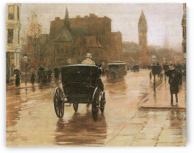 Columbus Avenue by Hassam by Hassam