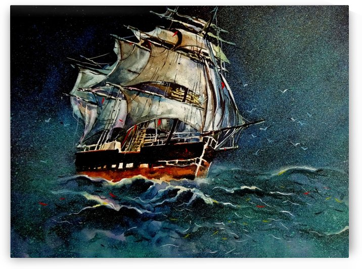Old Ship Classics 2  Painting By Sumit Datta by Sumit Datta
