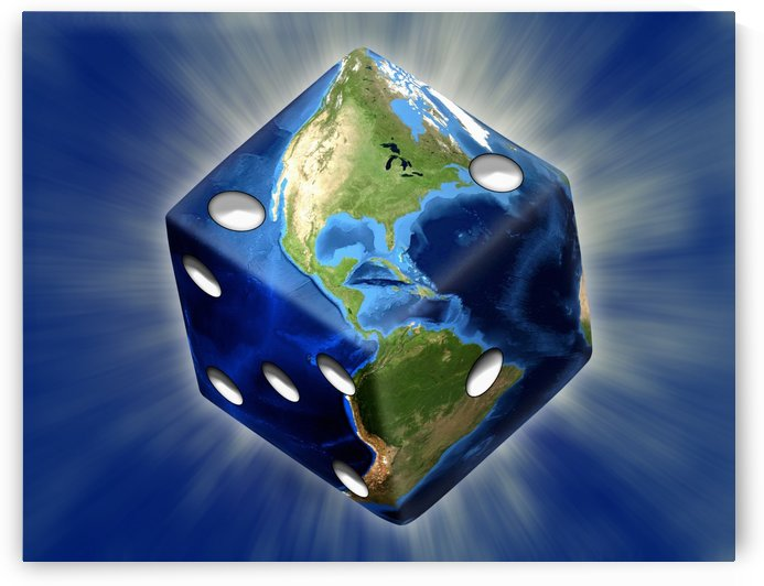 Earth Dice by Bruce Rolff