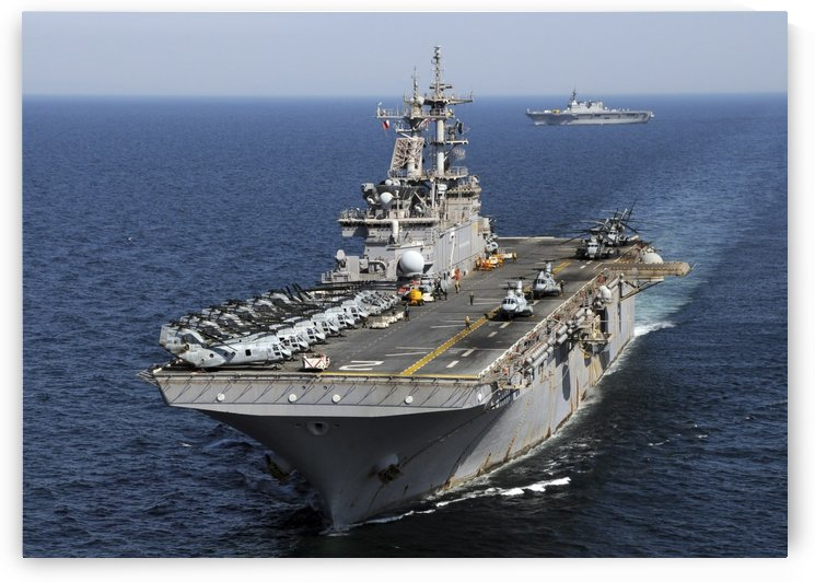 USS Essex transits off the coast of northeastern Japan. by StocktrekImages