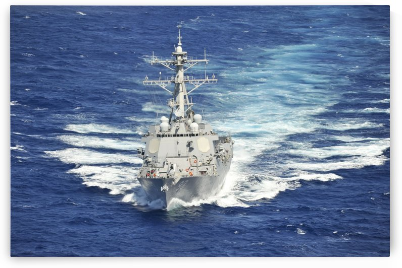 The guided-missile destroyer USS Chung-Hoon. by StocktrekImages