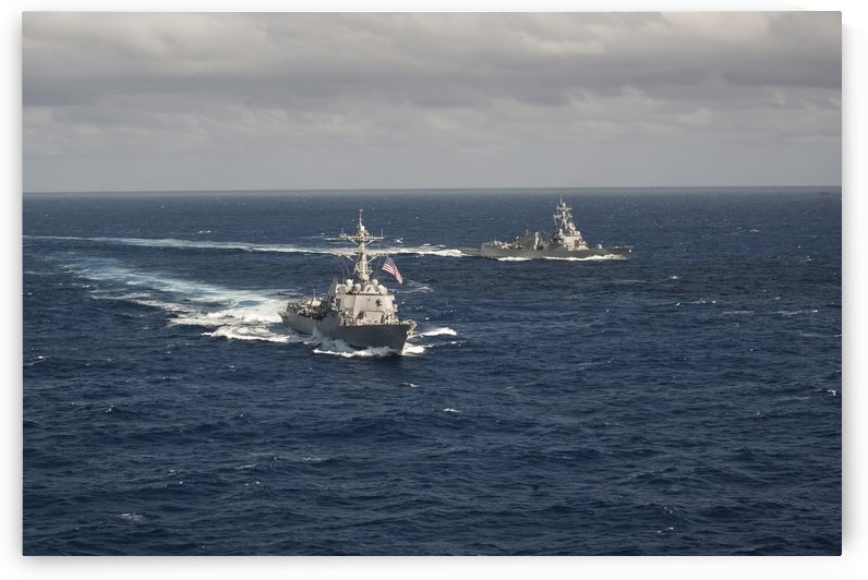 Guided missile destroyers USS Stockdale and USS William P. Lawrence. by StocktrekImages