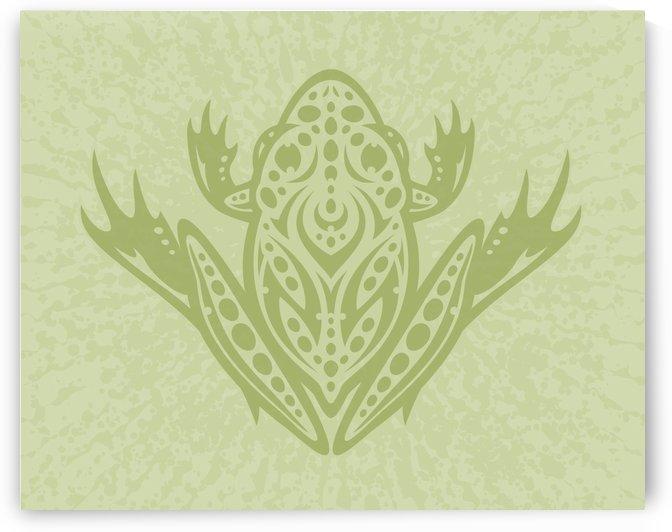 Tribal Leopard Frog - Green by fizzgig