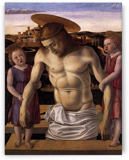 The Dead Christ supported by Angels by Giovanni Bellini