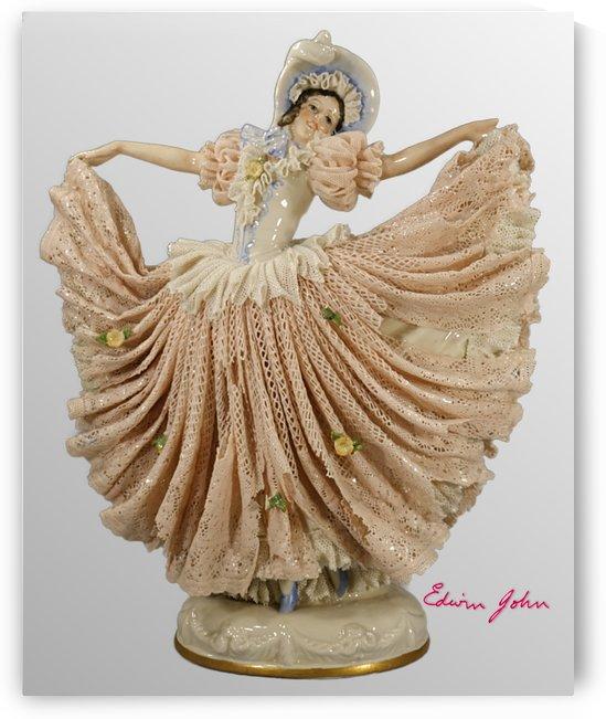 Dancing Lady in Pink Lace Dress - Edwin John by Edwin John