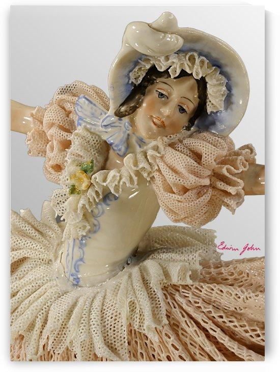 Dancing Lady in Pink Lace Dress - Close-up - Edwin John by Edwin John