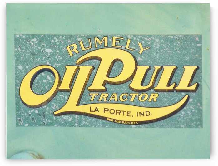 Rumely Tractor Oil Pull Sign by Linda Peglau