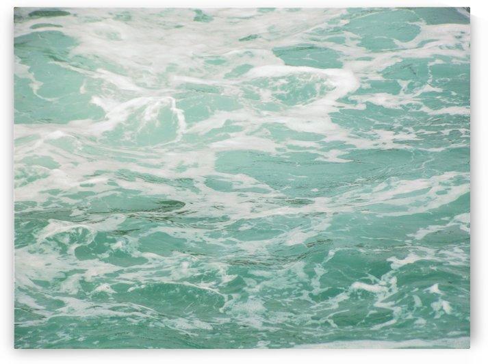 Teal Wave Background by Linda Peglau