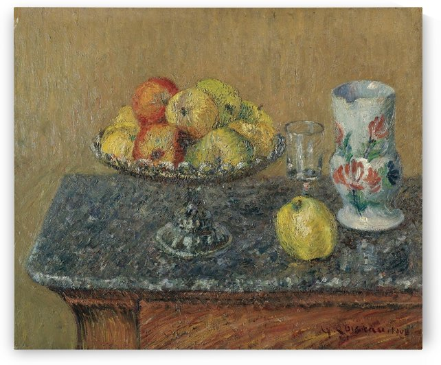 Fruit Bowl with Apples and a Jug by Gustave Loiseau