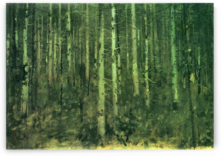 In the forest by Albin Egger-Lienz by Albin Egger-Lienz