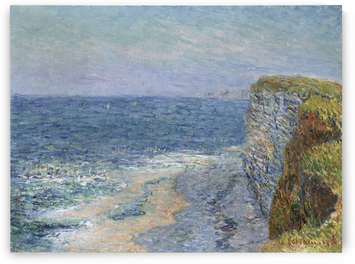 The Seascape at Etretat by Gustave Loiseau
