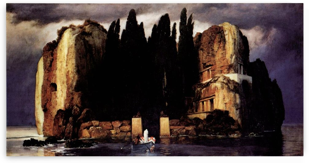 Island of the dead ones by Arnold Bocklin by Arnold Bocklin