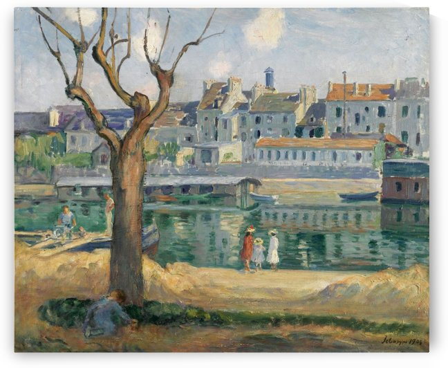 View to the Quay of Pamponne by Henri Lebasque