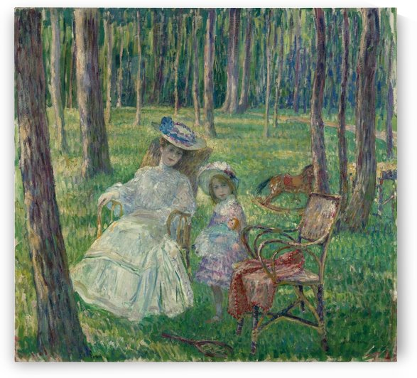 Mother and Daughter in the Park by Henri Lebasque