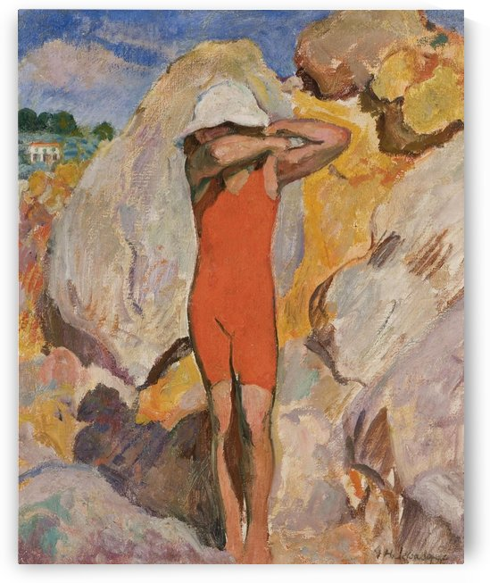 Child in Red Tights by Henri Lebasque