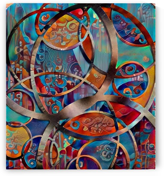 Circular Abstract Composition by Bruce Rolff