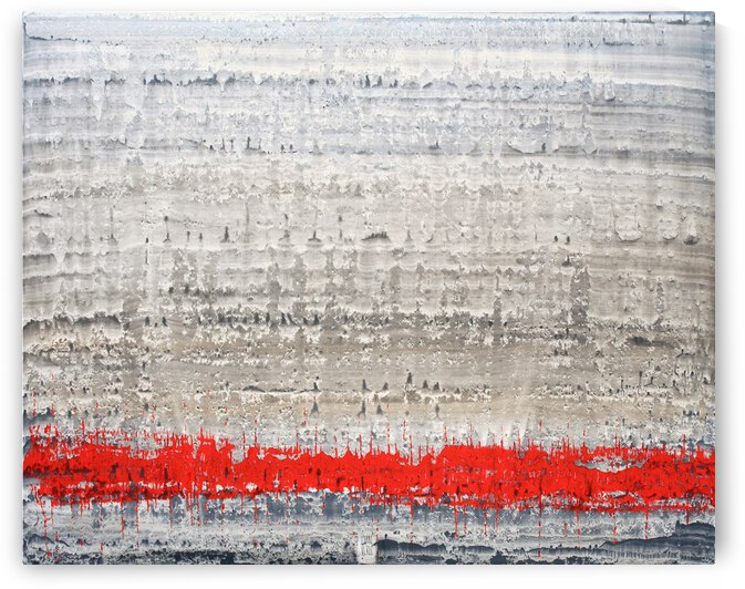 Rouge electro - Contemporary Art by Vieville abstract art