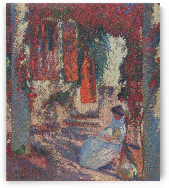 Mother Mary with Baby Jesus in Front of Marqyuarol by Henri Martin