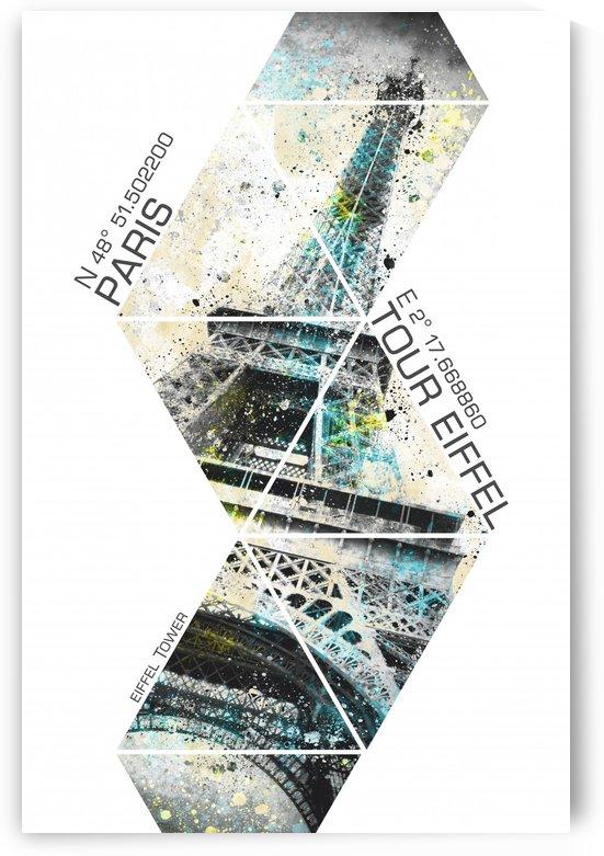 Coordinates EIFFEL TOWER  Modern Art by Melanie Viola