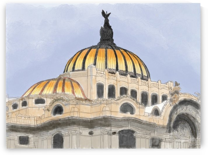 Mexico City Palacio Bellas Artes by Harry Forsdick