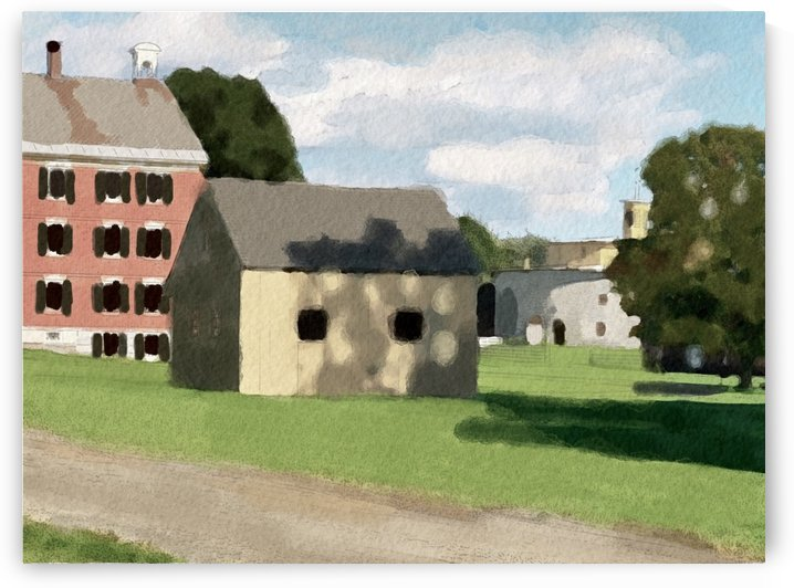 Hancock Shaker Village Brick Dwelling and Garage by Harry Forsdick