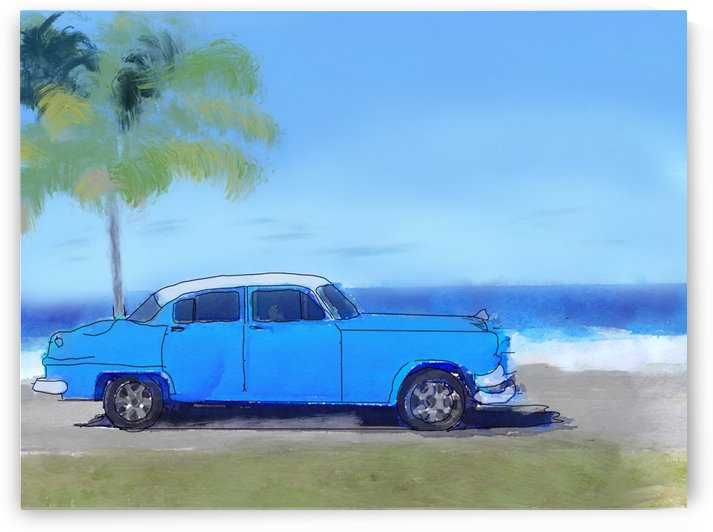Cuba Blue Car by Harry Forsdick
