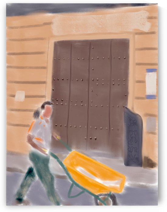 Cuba Wheelbarrow Worker by Harry Forsdick