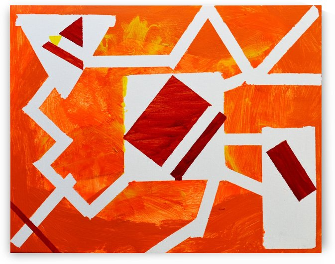 Geometric Orange. Jessica B by The Arc of the Capital Area