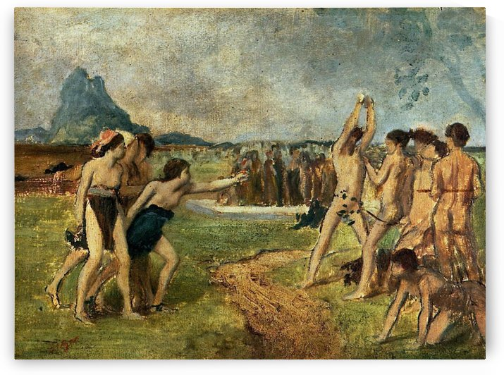 Young Spartans Exercising by Hilaire-Germain-Edgar Degas
