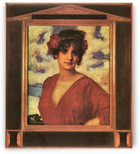 Lady in Red by Franz von Stuck by Franz von Stuck