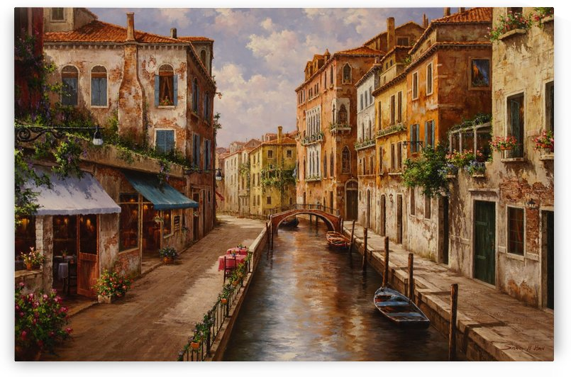The Shops of Venice by Sang H Han