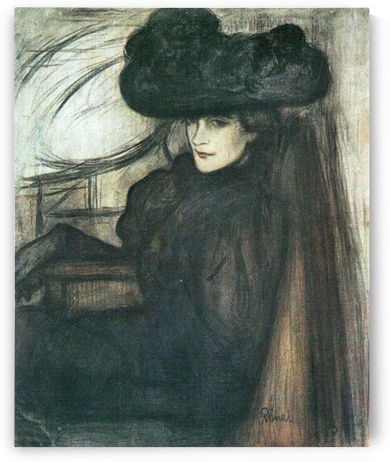 Lady with black veil  by Joseph Rippl-Ronai by Joseph Rippl-Ronai