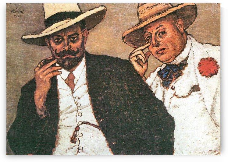 Lajos und Odon by Joseph Rippl-Ronai by Joseph Rippl-Ronai