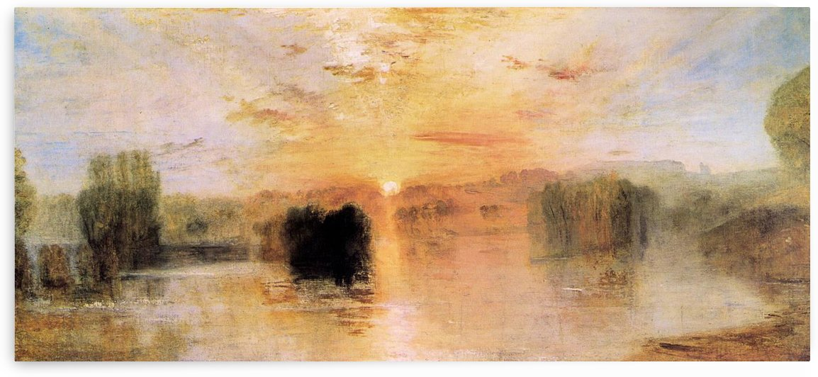 Lake Petworth sunset by Joseph Mallord Turner by Joseph Mallord Turner