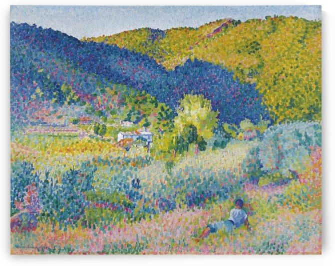 Landscape with Mountain Range by Henri Edmond Cross