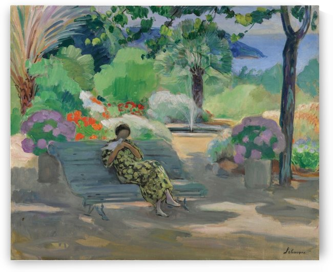 Young Woman with a Dove by Henri Lebasque