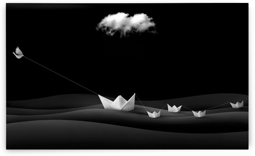 Paper Boats by 1x