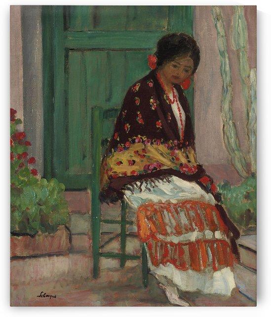Woman in Flowery Shawl by Henri Lebasque