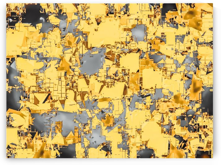 geometric painting texture abstract in yellow and brown by TimmyLA