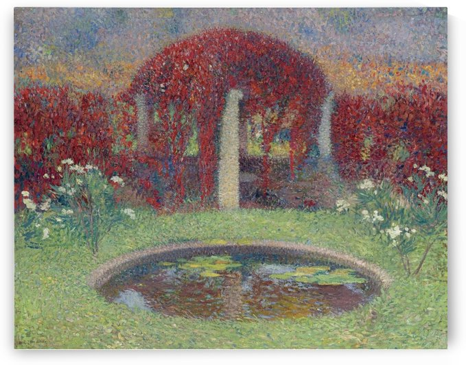 The Pool and the Arbour by Henri Martin