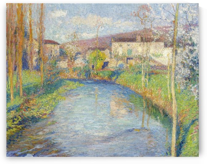 The River of Lot in Green by Henri Martin