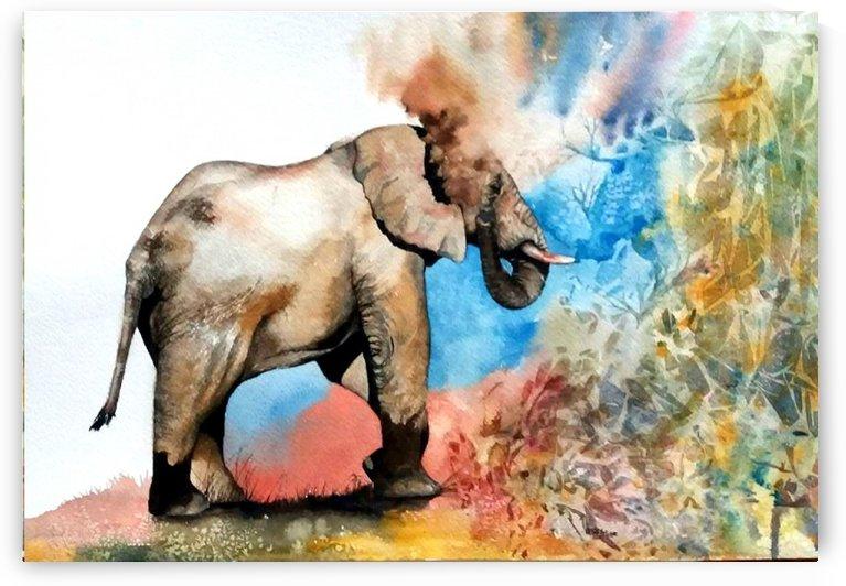 Elephant by Lesley Milne