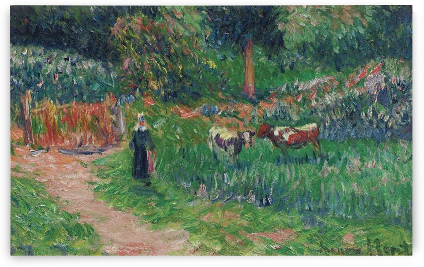Shepperdess of the Cows by Henry Moret
